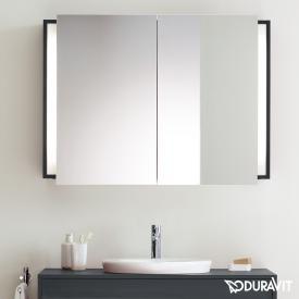 Duravit Ketho mirror cabinet with lighting matt graphite