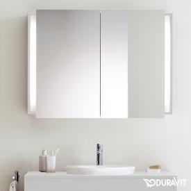 Duravit Ketho mirror cabinet with lighting matt white