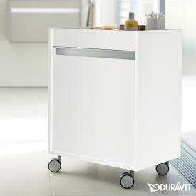 Duravit Ketho storage unit on castors front matt white / corpus matt white