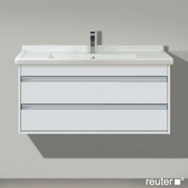 Duravit Ketho vanity unit with 2 pull-out compartments front matt white / corpus matt white