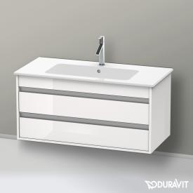 Duravit Ketho vanity unit with 2 pull-out compartments front white high gloss / corpus white high gloss