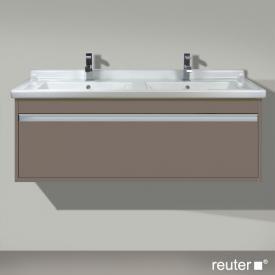 Duravit Ketho vanity unit with 1 pull-out compartment for double washbasin front matt basalt / corpus matt basalt