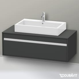 Duravit Ketho vanity unit with 1 pull-out compartment, without cut-out front matt graphite / corpus matt graphite