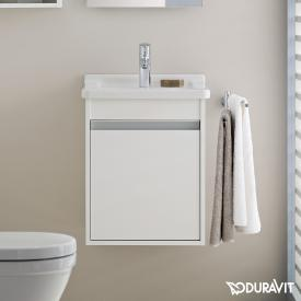 Duravit Ketho vanity unit with 1 door front matt white / corpus matt white