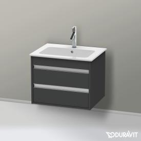 Duravit Ketho vanity unit with 2 pull-out compartments front matt graphite / corpus matt graphite