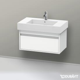 Duravit Ketho  vanity unit with 1 pull-out compartment front matt white / corpus matt white