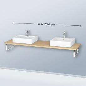 Duravit L-Cube console for 2 countertop basins / drop-in basins mediterranean oak