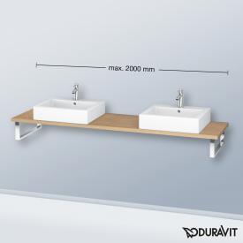 Duravit L-Cube console for 2 countertop basins and drop-in basins european oak
