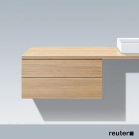 Duravit L-Cube low cabinet for console with 2 pull-out compartments front european oak / corpus european oak, without interior system