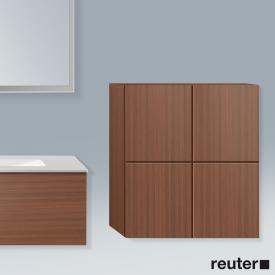 Duravit L-Cube medium unit with 2 doors front american walnut / corpus american walnut