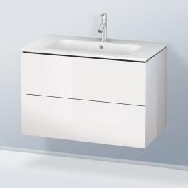 Duravit L-Cube Meuble sous-lavabo avec 2 tiroirs sur rails Façade: blanc ultra brillant / corps: blanc ultra brillant, sans système de rangement