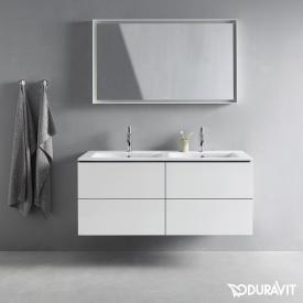 Duravit L-Cube Meuble sous-lavabo pour lavabo double avec 4 tiroirs Façade blanc mat/corps du meuble blanc mat, sans système d'aménagement