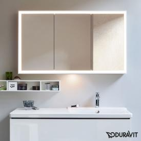Duravit L-Cube mirror cabinet with LED lighting with washbasin light