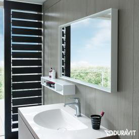 Duravit L-Cube mirror with LED lighting white aluminium