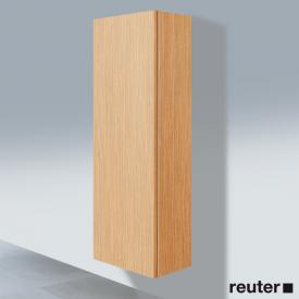 Duravit L-Cube tall unit with 1 door front brushed oak / corpus brushed oak
