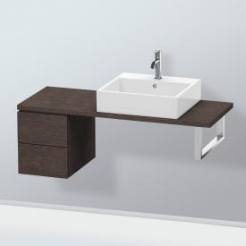 Duravit L-Cube vanity unit for console with 2 pull-out compartments front brushed dark oak / corpus brushed dark oak, without interior system