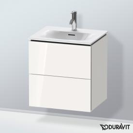 Duravit L-Cube vanity unit for hand washbasin with 2 pull-out compartments front white high gloss / corpus white high gloss