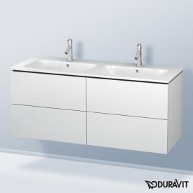 Duravit L-Cube vanity unit with 4 pull-out compartments for double washbasin front matt white / corpus matt white, without interior system