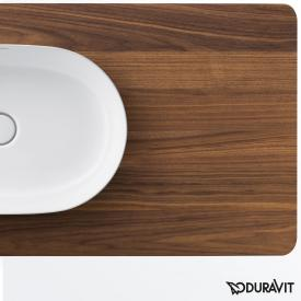 Duravit Luv console for 2 countertop washbasins american walnut