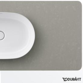 Duravit Luv console for countertop washbasin textured grey