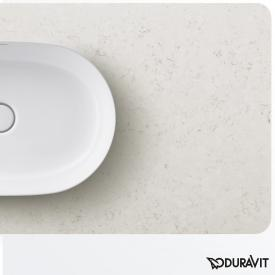 Duravit Luv console for countertop washbasin, centred textured white