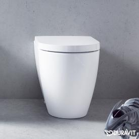 Duravit ME by Starck floor-standing, washdown toilet, back to wall white, with WonderGliss