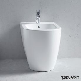 Duravit ME by Starck floorstanding bidet, back to wall with WonderGliss