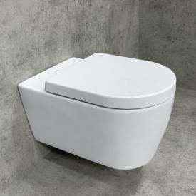 Duravit ME by Starck SET cuvette murale & abattant Tellkamp Premium 4000 : WC sans bride blanc, avec HygieneGlaze
