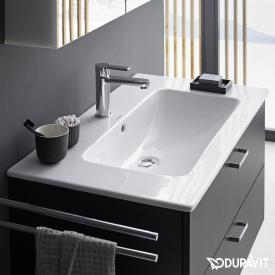 Duravit ME by Starck vanity washbasin white, with WonderGliss, with 1 tap hole