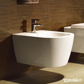 Duravit ME by Starck wall-mounted bidet white, with WonderGliss