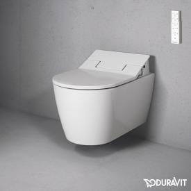 Duravit ME by Starck wall-mounted washdown toilet for SensoWash® with flushing rim, white
