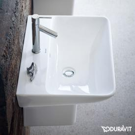 Duravit ME by Starck washbasin white, with WonderGliss, with 1 tap hole