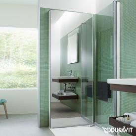 Duravit OpenSpace B shower screen clear glass and mirrored glass / chrome