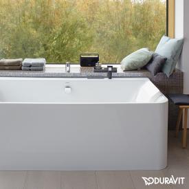 Duravit P3 Comforts corner bath with panelling, for left corner