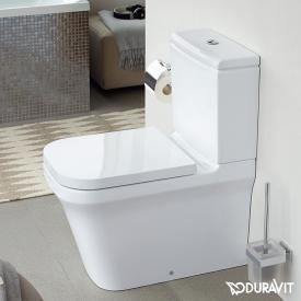 Duravit P3 Comforts floorstanding close-coupled washdown toilet, rimless white, with WonderGliss