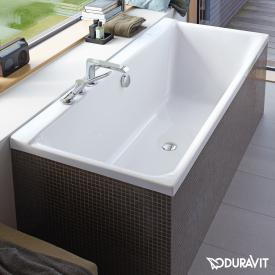 Duravit P3 Comforts rectangular bath, built-in or for panelling, with slanted backrest right