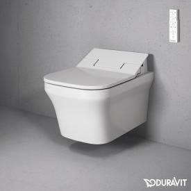Duravit P3 Comforts wall-mounted washdown toilet for SensoWash®, rimless white