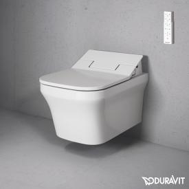 Duravit P3 Comforts wall-mounted washdown toilet Rimless with NEW SensoWash® Slim toilet seat, set white, with WonderGliss