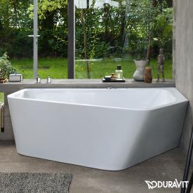 Duravit Paiova hexagonal bath with panelling, for right corner