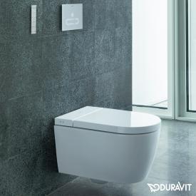 Duravit SensoWash® Starck f Lite compact shower toilet, with toilet seat, with toilet seat