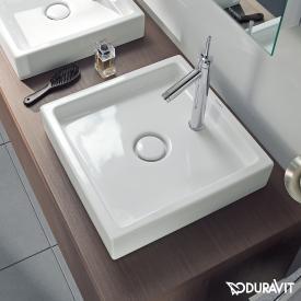Duravit Starck 1 vanity washbasin white, with WonderGliss, with 1 tap hole