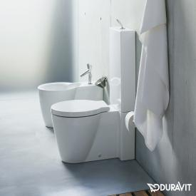 Duravit Starck 1 floorstanding close-coupled washdown toilet white, with WonderGliss