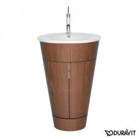 Duravit Starck 1 floor-standing vanity unit american walnut
