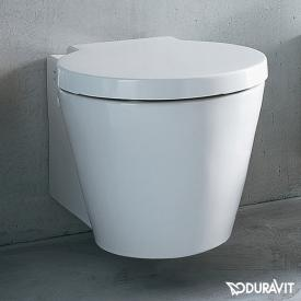 Duravit Starck 1 wall-mounted washdown toilet white, with WonderGliss