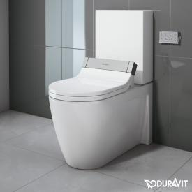 Duravit Starck 2 close-coupled, floorstanding washdown toilet for SensoWash® white