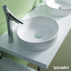 Duravit Starck 2 countertop basin white, with WonderGliss