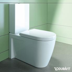 Duravit Starck 2 floorstanding, close-coupled, washdown toilet white, with WonderGliss