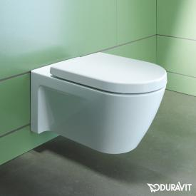 Duravit Starck 2 wall-mounted washdown toilet white, with WonderGliss