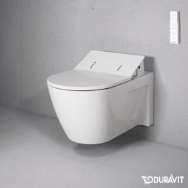Duravit Starck 2 wall-mounted washdown toilet with NEW SensoWash® Slim toilet seat, set white