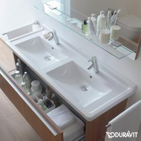 Duravit Starck 3 double washbasin white, with WonderGliss, with 2 tap holes